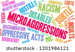 microaggressions word cloud on... | Shutterstock .eps vector #1201986121