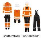 man worker in uniform.... | Shutterstock .eps vector #1202005834