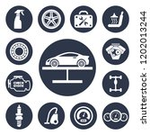 auto service icons set | Shutterstock .eps vector #1202013244