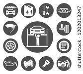 auto service icons set | Shutterstock .eps vector #1202013247