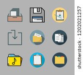 file icon set. vector set about ... | Shutterstock .eps vector #1202021257