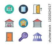 entrance icon set. vector set... | Shutterstock .eps vector #1202024317