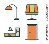 house icon set. vector set... | Shutterstock .eps vector #1202028844