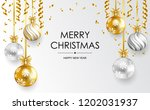 merry christmas and happy new... | Shutterstock .eps vector #1202031937