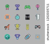 competition icon set. vector... | Shutterstock .eps vector #1202035711