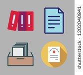 bureaucracy icon set. vector... | Shutterstock .eps vector #1202040841