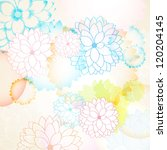 Abstract Floral Background Wit...