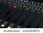 the radio mixer on air channel   Shutterstock . vector #1202043874
