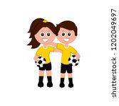 pair of goalkeeper image.... | Shutterstock .eps vector #1202049697