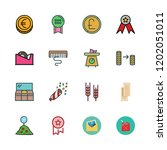 golden icon set. vector set... | Shutterstock .eps vector #1202051011