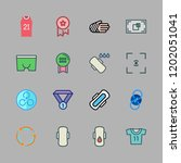 athlete icon set. vector set... | Shutterstock .eps vector #1202051041