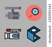 zoom icon set. vector set about ... | Shutterstock .eps vector #1202051161