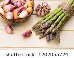 banches of fresh green... | Shutterstock . vector #1202055724