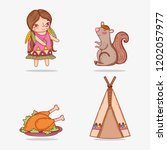 set woman indigenous and...   Shutterstock .eps vector #1202057977