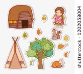 set woman indigenous with...   Shutterstock .eps vector #1202058004