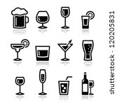 drink alcohol beverage icons set | Shutterstock .eps vector #120205831