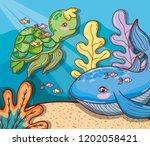aquatic marine life | Shutterstock .eps vector #1202058421