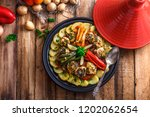 fish tagine with chermoula ... | Shutterstock . vector #1202062654