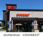 Small photo of CONCORD, CALIFORNIA - OCTOBER 5, 2018: Dunkin Donuts is an American coffee and baked goods chain. In September 2018, Dunkin' Donuts officially announced that it would shorten its name to Dunkin'