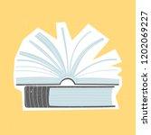vector illustration of books on ...   Shutterstock .eps vector #1202069227