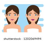 woman before and after skin... | Shutterstock .eps vector #1202069494