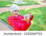 Little Girl Taking Selfie ...