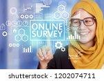 online survey  motivational...   Shutterstock . vector #1202074711