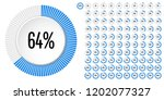 set of circle percentage... | Shutterstock .eps vector #1202077327
