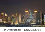 bangkok city skyline night in... | Shutterstock . vector #1202082787
