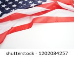 star striped flag of the usa on ... | Shutterstock . vector #1202084257