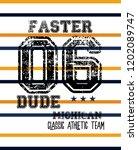 michigan faster dude t shirt... | Shutterstock .eps vector #1202089747