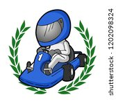 cartoon karting illustration | Shutterstock .eps vector #1202098324
