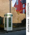 Old Green And White Telephone ...
