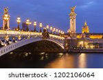 beautiful view of seine  les... | Shutterstock . vector #1202106064