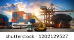 logistics and transportation of ... | Shutterstock . vector #1202129527