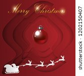 merry christmas card   vector... | Shutterstock .eps vector #1202150407