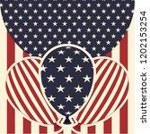 american flag pattern... | Shutterstock .eps vector #1202153254