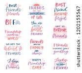 friend lettering vector... | Shutterstock .eps vector #1202155567