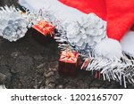 christmas decoration with red... | Shutterstock . vector #1202165707