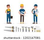 handyman  plumber  foreman ... | Shutterstock . vector #1202167081