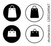 shopping bag icon on white...
