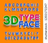3d alphabet font. three...   Shutterstock .eps vector #1202172247
