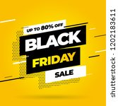 black friday sale inscription... | Shutterstock .eps vector #1202183611