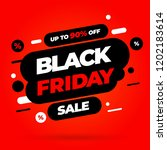 black friday sale inscription... | Shutterstock .eps vector #1202183614