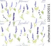seamless with lavender herbs... | Shutterstock .eps vector #1202192011