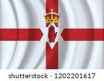 national flag of northern...   Shutterstock .eps vector #1202201617