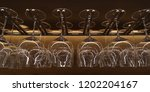 a close up shot of wine glasses ... | Shutterstock . vector #1202204167