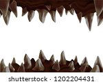 3d monster open mouth with... | Shutterstock .eps vector #1202204431