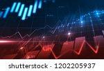 stock market or forex trading... | Shutterstock . vector #1202205937