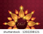 happy diwali festival with oil... | Shutterstock .eps vector #1202208121